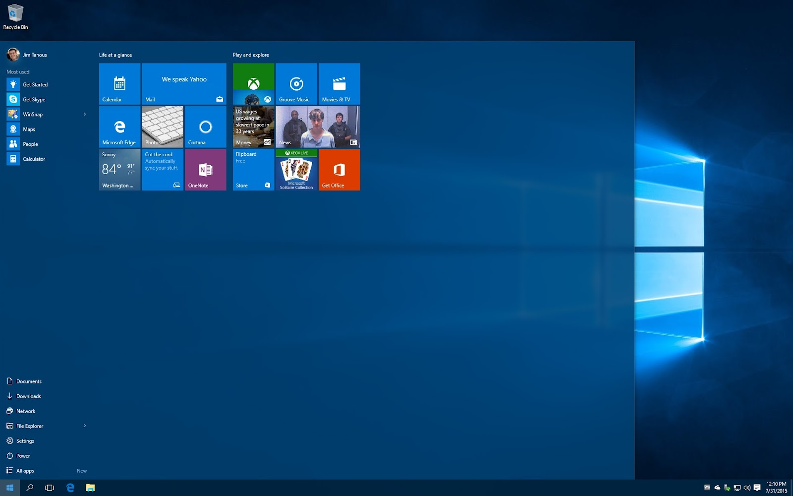 how to get windows 10 startmenu smaller