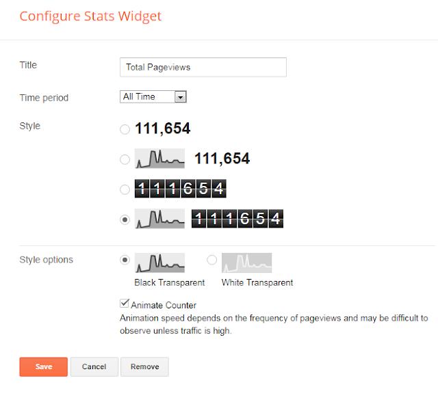 configure stats widgets