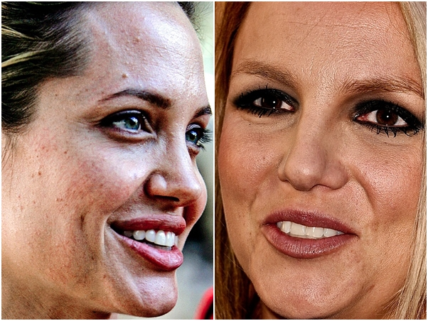 Angelina Jolie Britney Spears Sem Photoshop Famosas