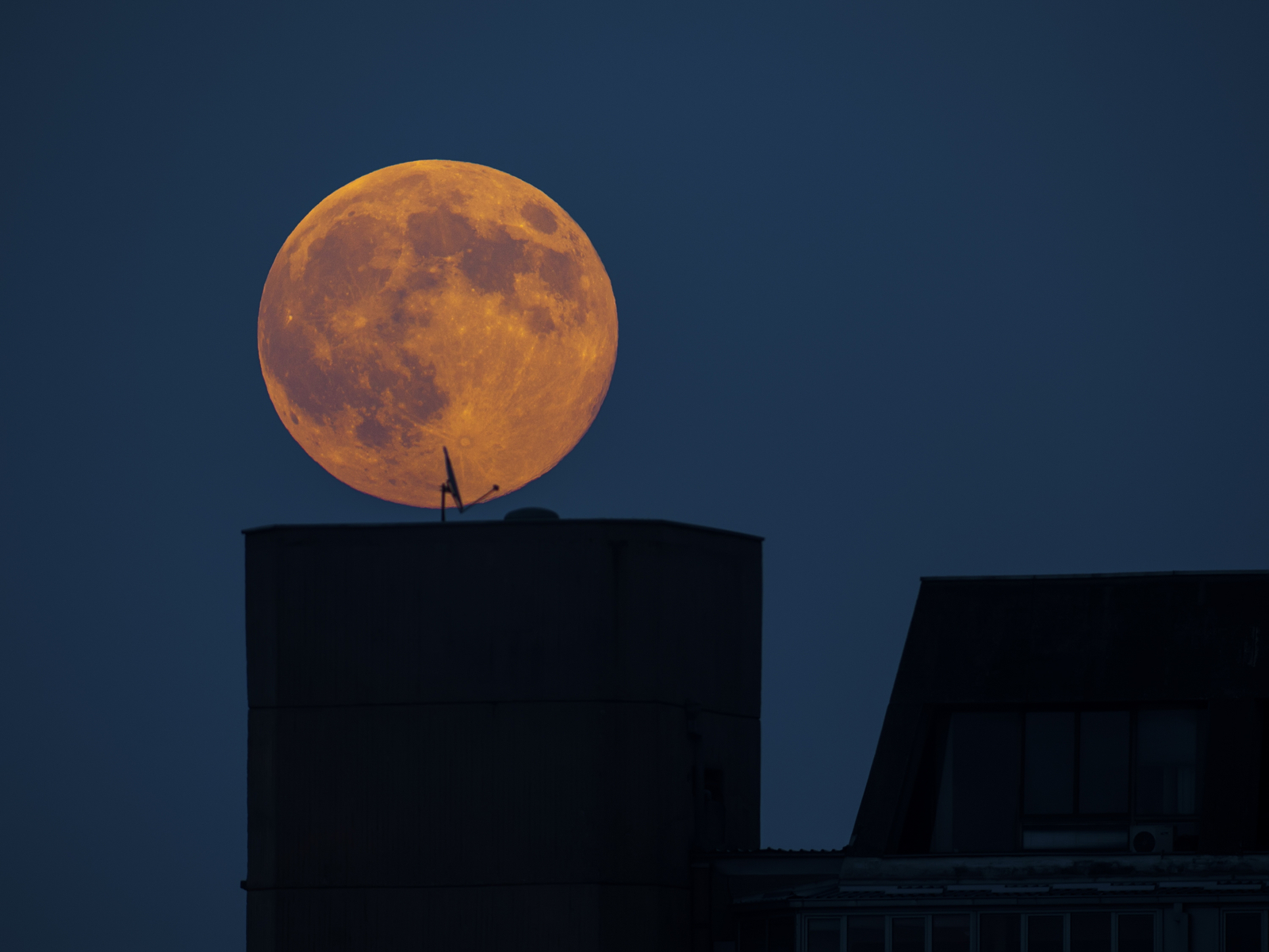 Supermoon over the Bronx in New York
