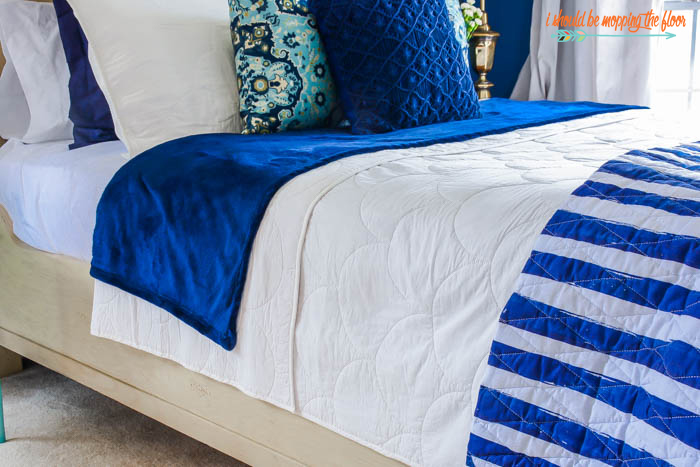 White quilted bedding