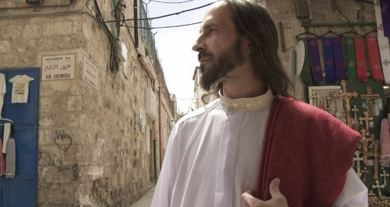 Another man who believes he's Jesus. Photographed in Jerusalem by artist Katarzyna Kozyra.