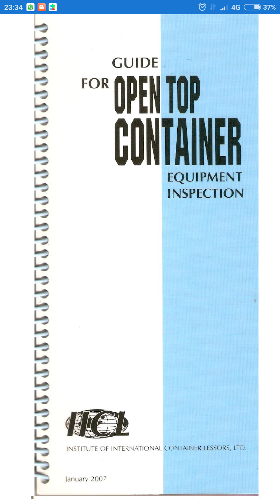 guide for open top container equipment inspection apk version rh dhilreefer blogspot com Container Inspection Form C-TPAT Container Inspections
