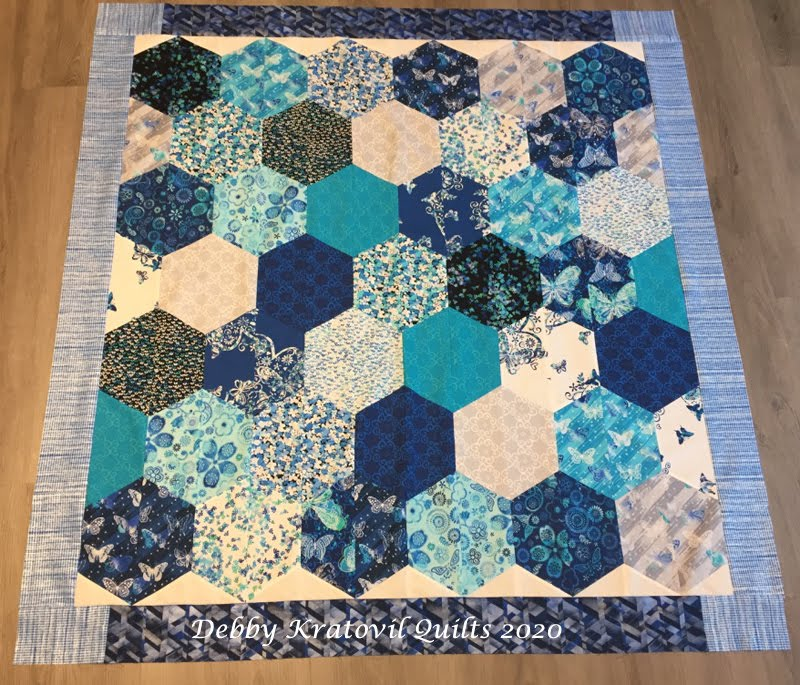 Bubbles and Hexagons Quilt