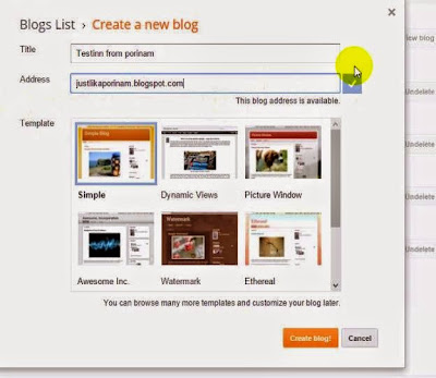 How to start a blog by using gmail account Tutorial from porinam