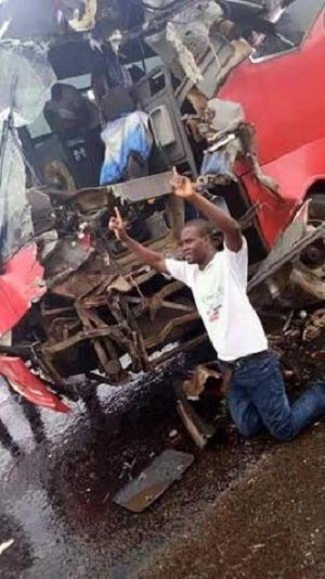 See what this guy did shortly after surviving a ghastly accident