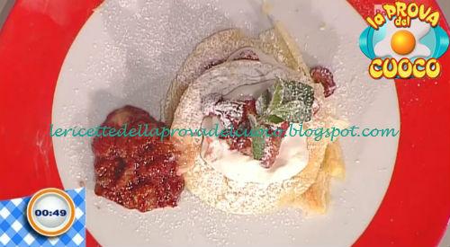 Millefoglie con panna alle fragole ricetta Improta da Prova del Cuoco