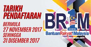 Thumbnail image for Permohonan Baharu & Kemaskini BR1M 2018 bermula 27 November 2017 Sehingga 31 Disember 2017