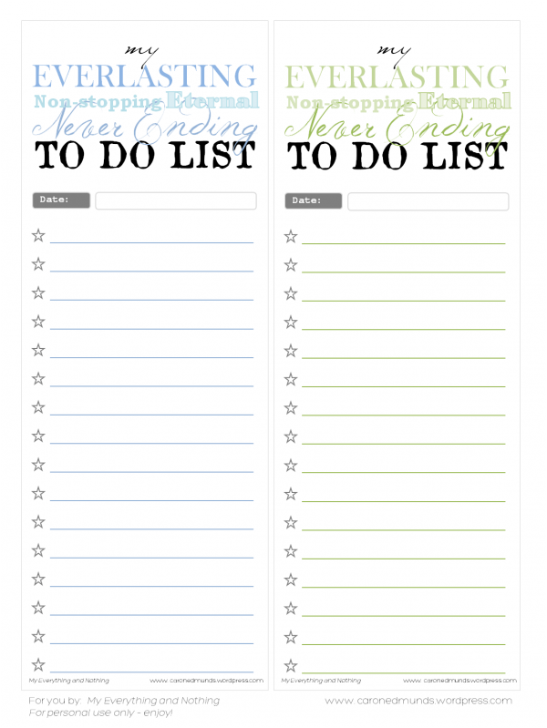 We Can Do It Girls: Freebie Friday: Printable Lists