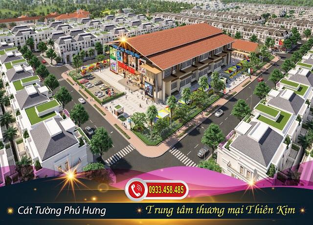 Bán đất sổ đỏ TP Đồng Xoài, Bình Phước: Trung tâm thương mại Thiên Kim tại dự án đất nền Cát Tường Phú Hưng