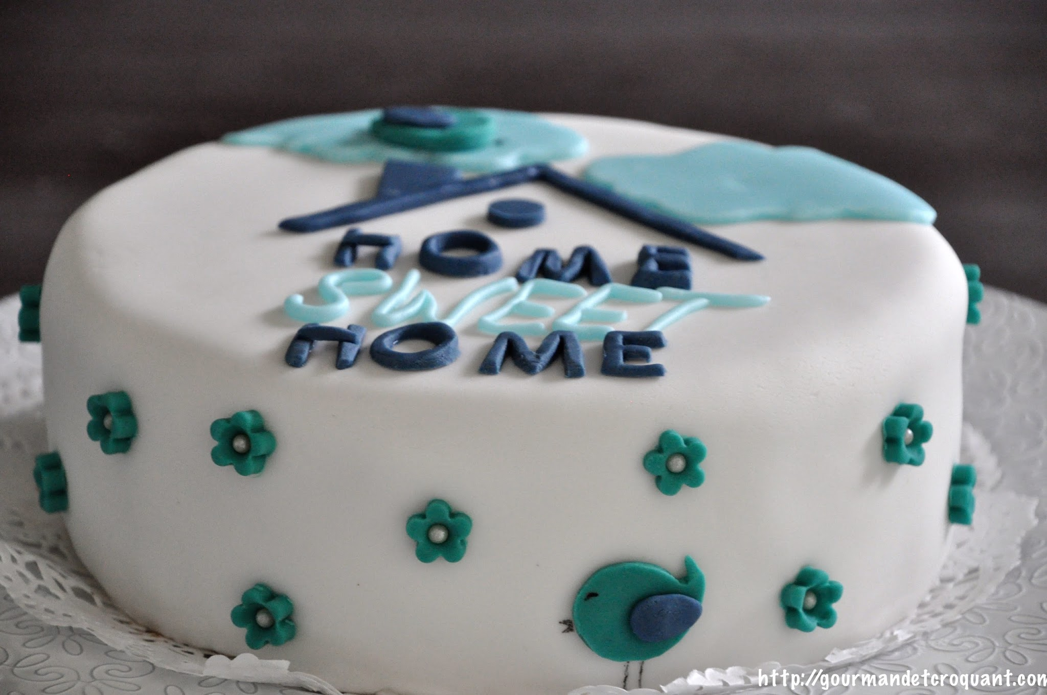 Cheminée Toit Dessin Gourmand Et Croquant: Cake Design Home Sweet Home