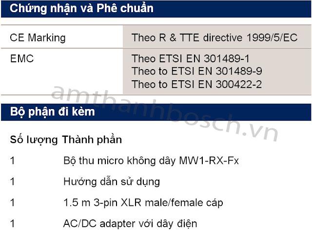 Bộ thu micrô không dây MW1-RX-F5