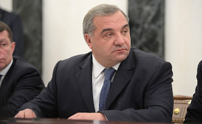 Emergency Situations Minister Vladimir Puchkov at the meeting with Government members.