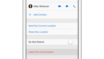 Cara Meninggalkan Group Chat di iPhone Messages