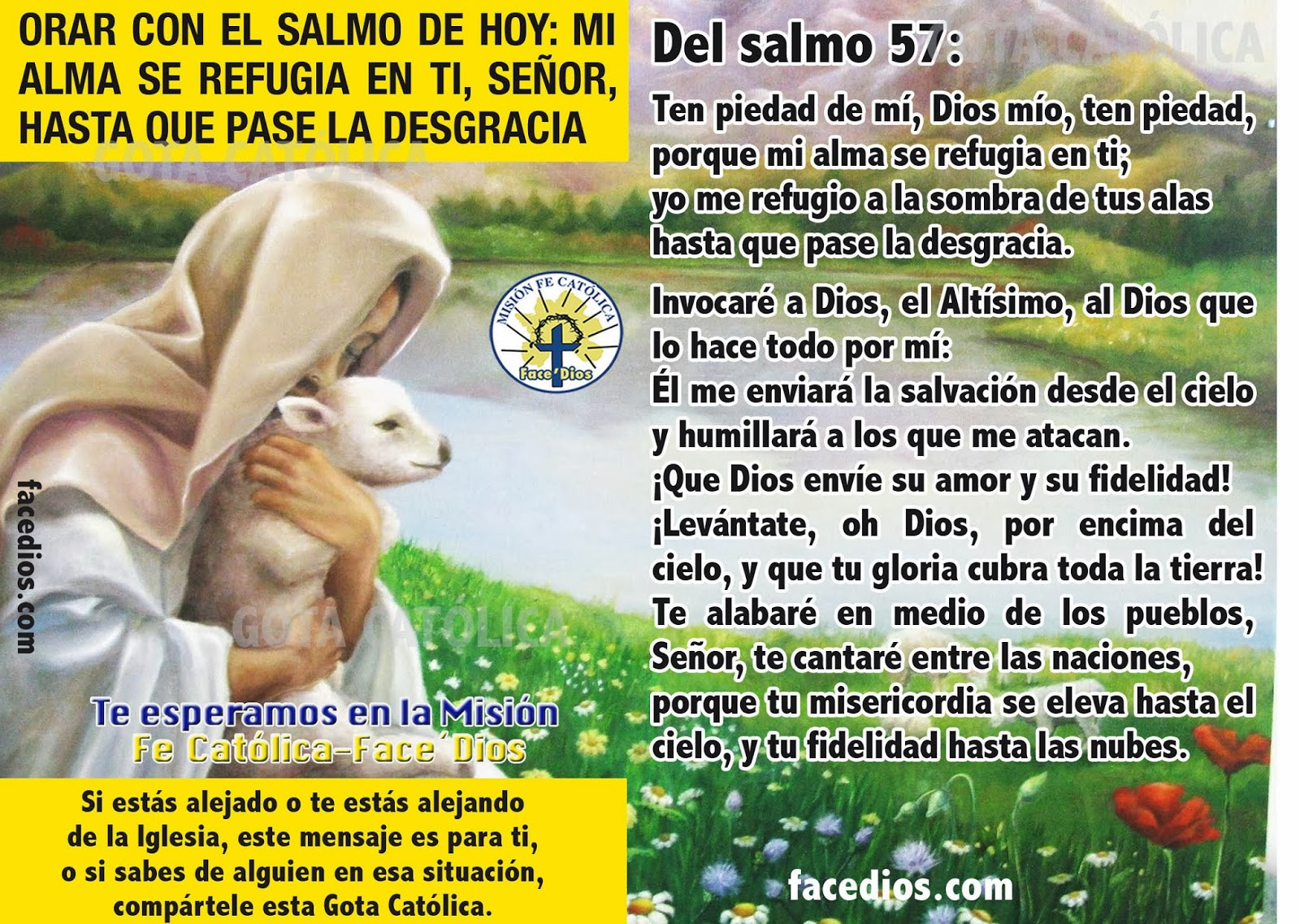 Te Amo Mensaje Escrito En Arena De Oro Foto De Archivo: GOTA Católica-Gotas De Dios: ORAR CON EL SALMO DE HOY: MI