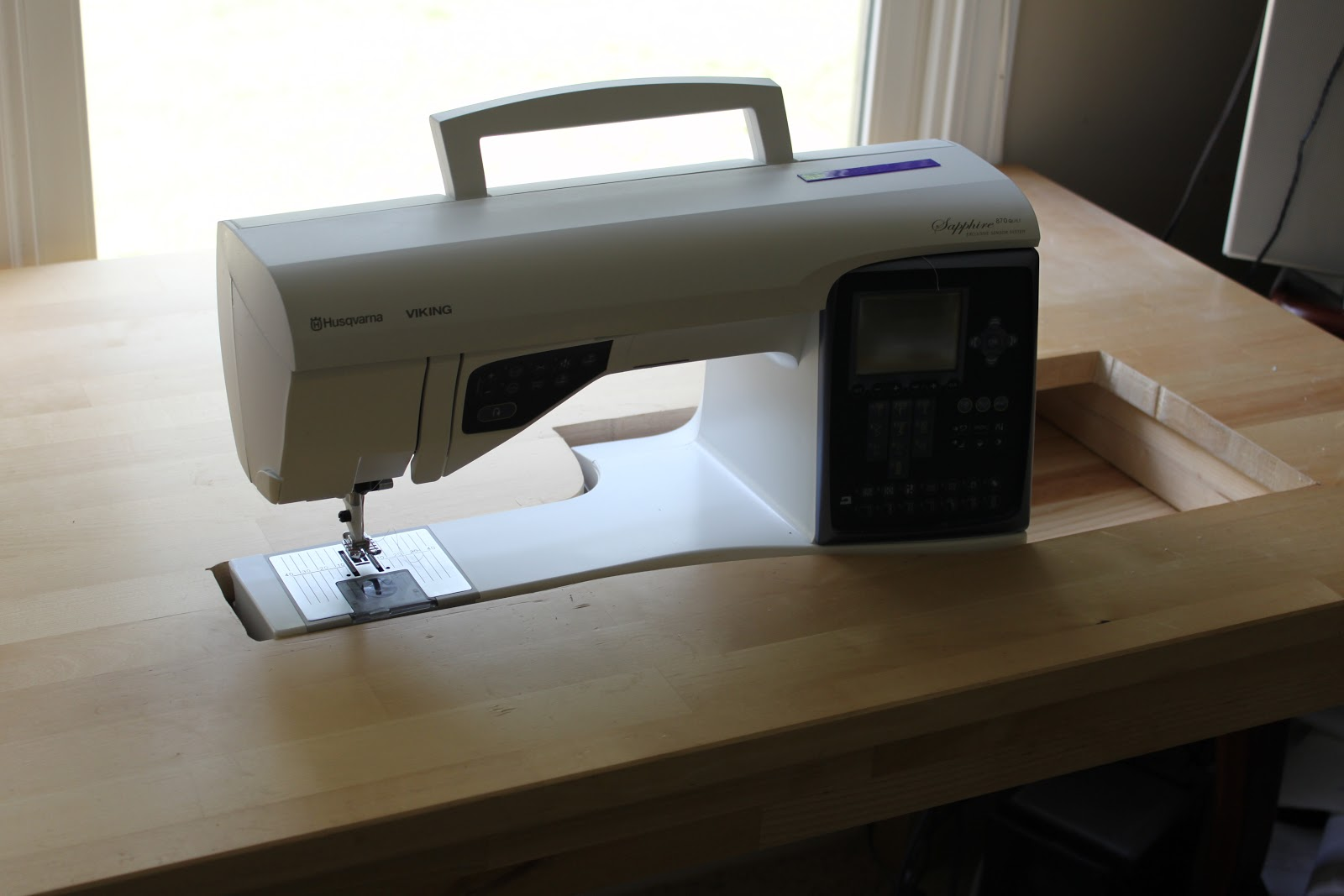 How To Customize An Ikea Table For Your Sewing Machine