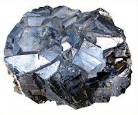 Bir parça galen minerali kristali