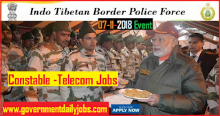 ITBP Jobs 2018 Apply Online for 218 Constable (Telecom) Posts