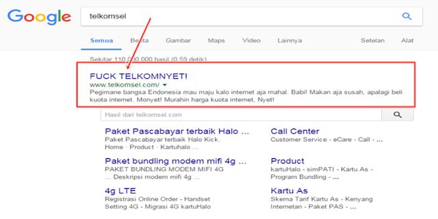 Netizen Gempar..!! Ketik 'Telkomsel' di Google, Keluar 'TELKOMNYET!'