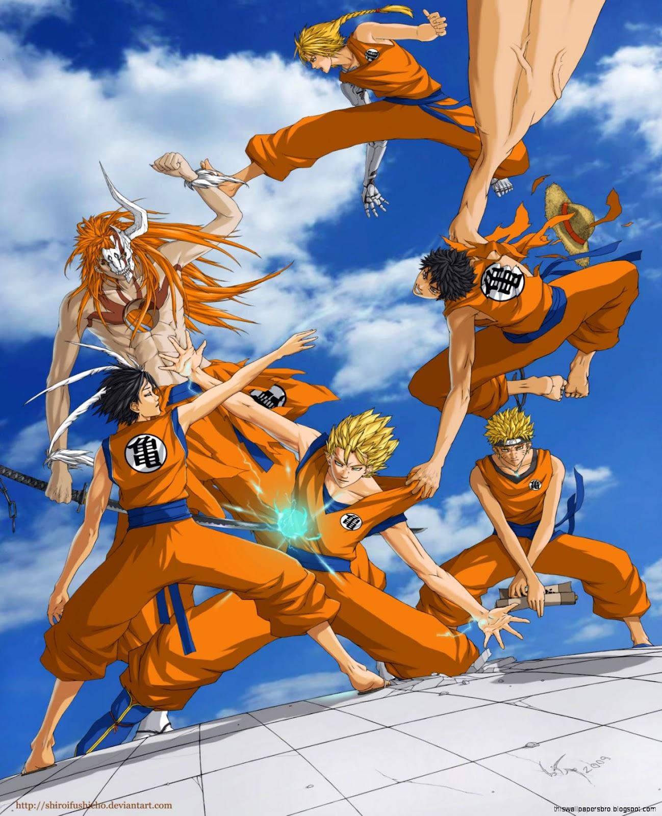 Luffy does not have anything similar to a rasengan. Naruto Ichigo Luffy Wallpaper