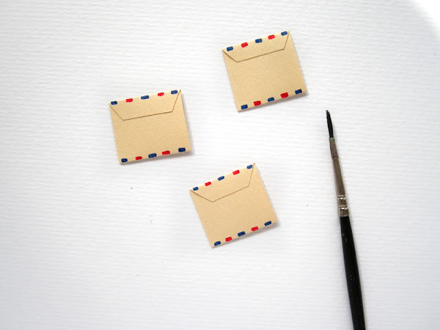 miniature paper envelopes