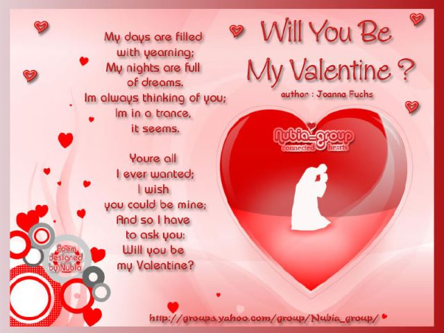 Current Affairs Will U Be My Valentine 2013