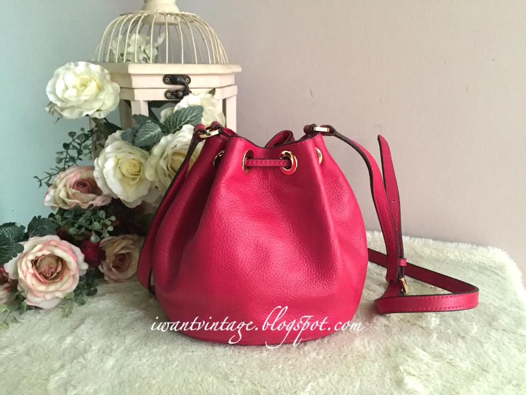 a70cc679433a ... real michael kors jules drawstring crossbody bucket bag deep pink 94a56  f5f01