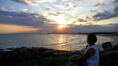 pôr do sol na Praia do Cardoso, Laguna