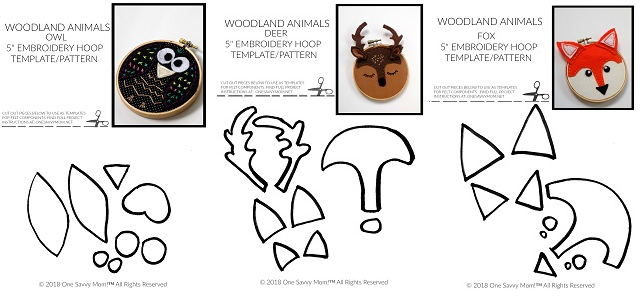 "picture regarding Free Printable Woodland Animal Templates named Just one Savvy Mother â""¢ NYC Place Mother Weblog: Woodland Pets Mini"