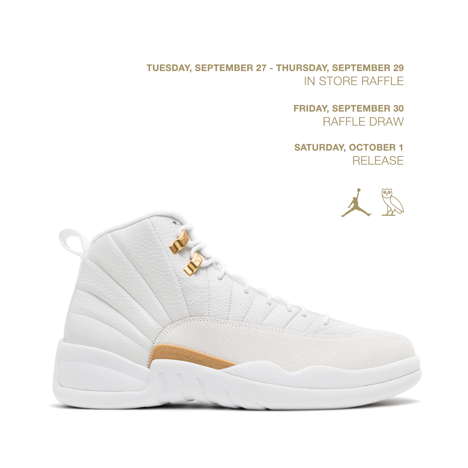 17cc6e4e1411e0 OCTOBERS VERY OWN  OVO AIR JORDAN 12 RAFFLE