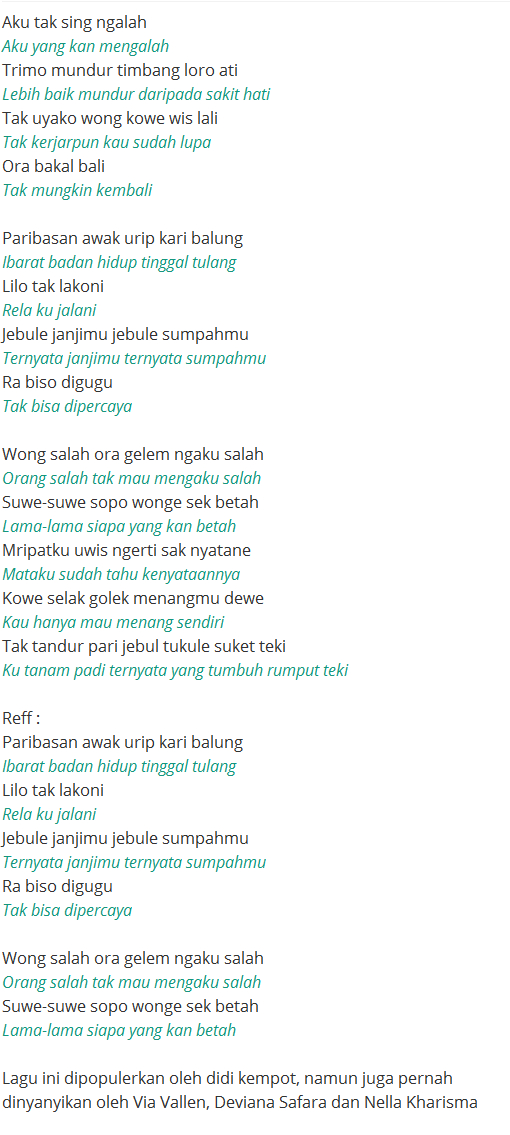 Vivi Artika - Suket Teki Lyrics | Musixmatch
