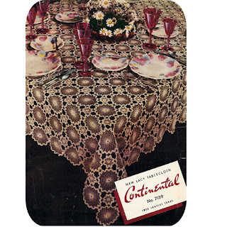 Vintage Crochet Round Medallion Tablecloth Pattern