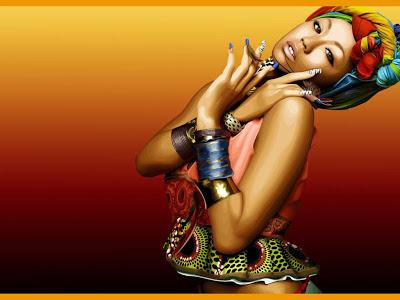 African woman Art