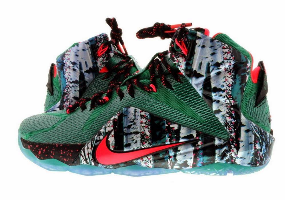 new concept 6b572 6d083 THE SNEAKER ADDICT: Nike Lebron 12 Xmas Akron Birch Sneaker ...