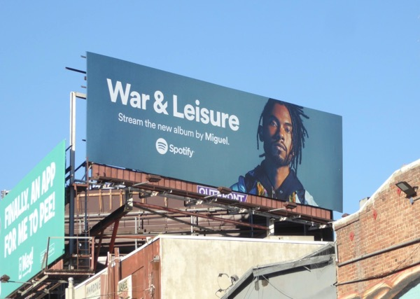 War Leisure Miguel Spotify billboard