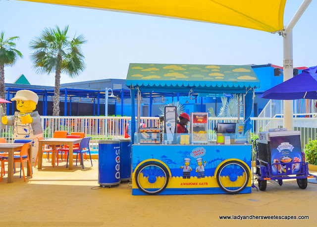 food cart at Legoland Water Park