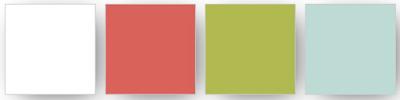 Combinaison des couleurs Stampin' Up! utilisées pour ce projet