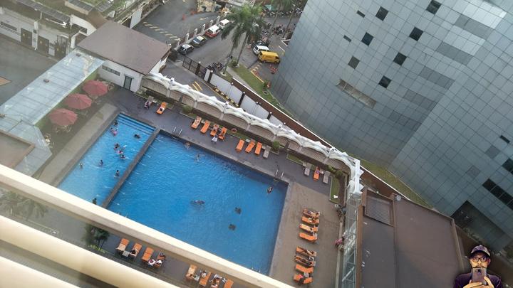 Pemandangan bilik deluxe Hotel Concorde KL