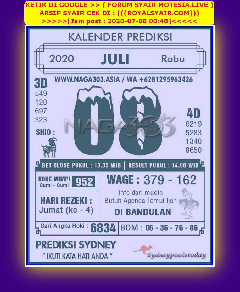 Kode syair Sydney Rabu 8 Juli 2020 234