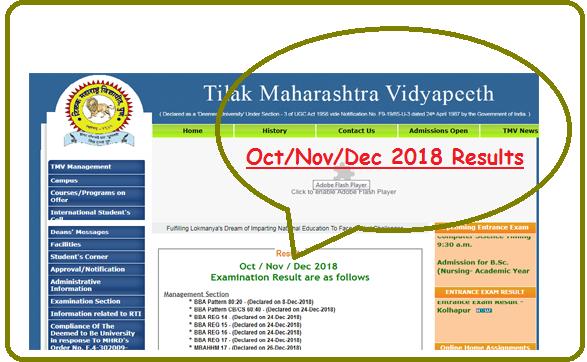 TMV Results Oct Nov 2018