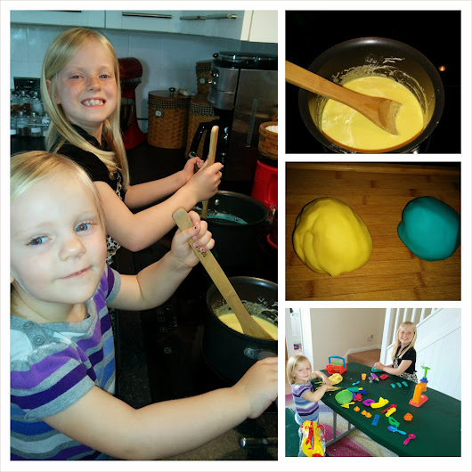 Rainy Day Fun with Homemade Play-dough and Brown Bag Popcorn