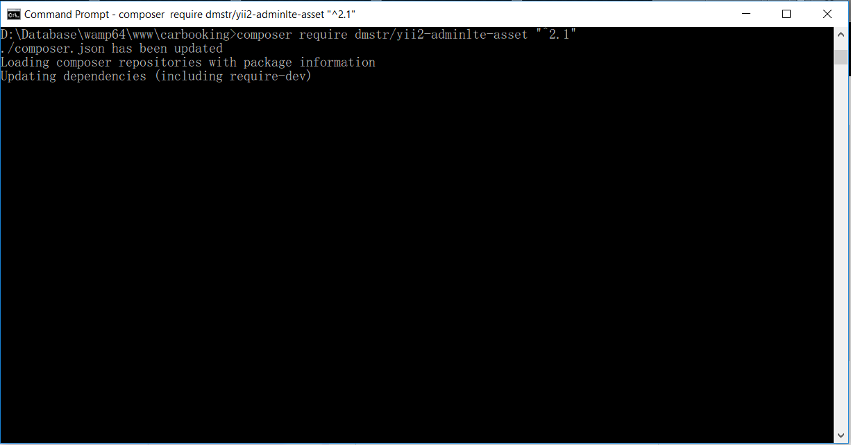 การติดตั้ง Theme AdminLTE สำหรับ Yii2 Framework | ระบบจองรถ