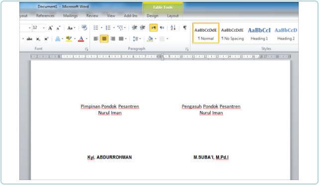 Cara Membuat Tempat Tanda Tangan Yang Rapih Di MS Word