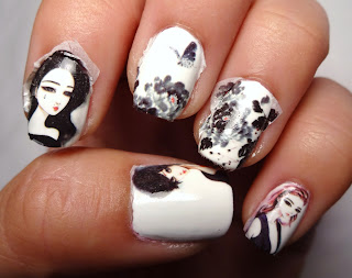 Girl Decal Nails