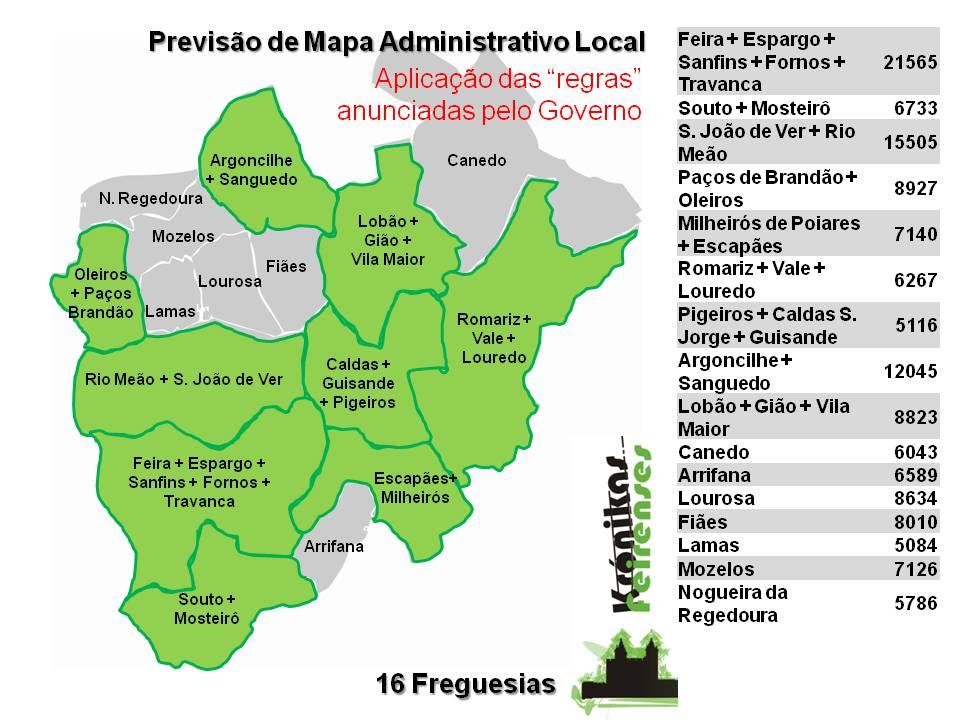mapa de são joão da madeira Krónikas Feirenses: Novo Mapa Administrativo Local mapa de são joão da madeira