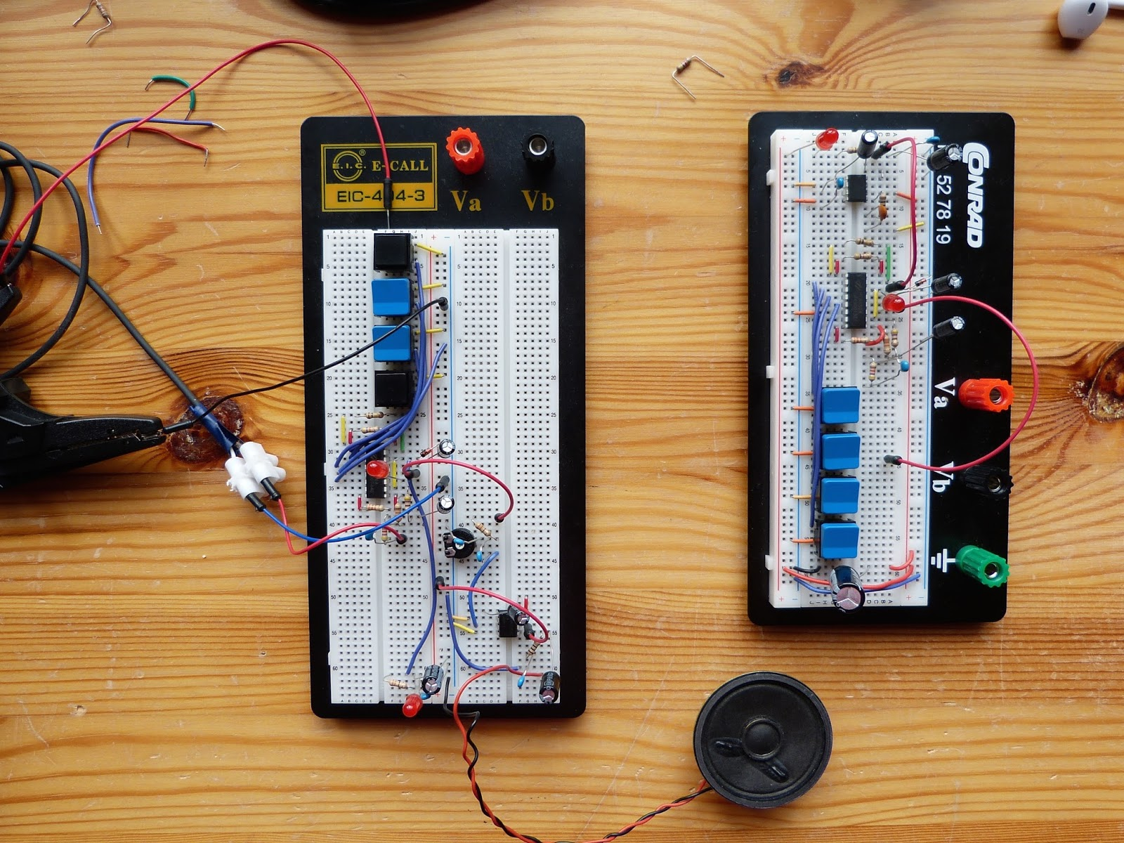 small resolution of two almost identical circuits with the holtek ht8950a voice modulator and the lm386 amplifier both circuits gave a hiss which was unacceptable