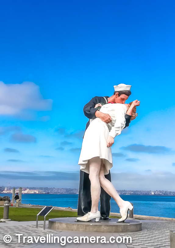 There is a very interesting place, with interesting facts. This is a series of statues in different cities of USA - Sarasota, New Jersey, Pearl Harbor & New York. Apart from these there is one in Italy and one in France. More details about these statues can be seen https://en.wikipedia.org/wiki/Unconditional_Surrender_(sculpture)