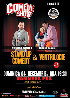 Stand-Up Comedy & Ventrilocie  Braila Duminica 4 Decembrie 2016
