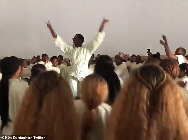 Kim Kardashian calls Kanye's latest Sunday Service magical