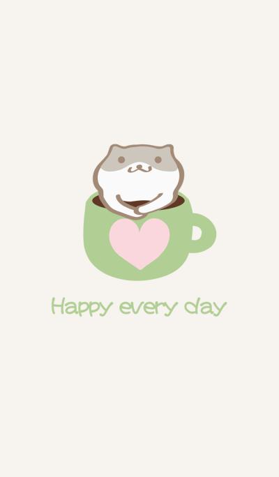 Hamster love coffee cup